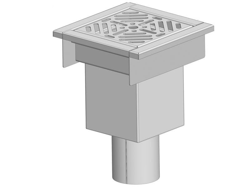 PLA 260 rozsdamentes padlóösszefolyó alsó kifolyóval