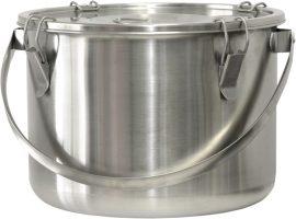 É025 Rozsdamentes ételszállító badella, 25 literes