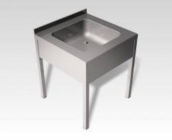 EMAX FMC 1550 rozsdamentes nagykonyhai mosogató, 600x700x850 mm