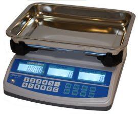 ENQTP-15 árszorzós mérleg nagy tálcával, méréshatár 15 kg