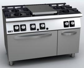 Fagor KORE C-G751 gáztűzhely GN 2/1 gázsütővel
