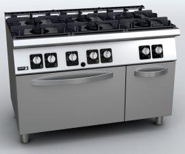 Fagor KORE C-G761 gáztűzhely GN 2/1 gázsütővel