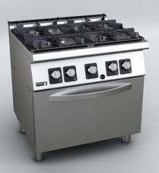 Fagor CGE 7-41 gáztűzhely GN 2/1 elektromos üzemű sütővel