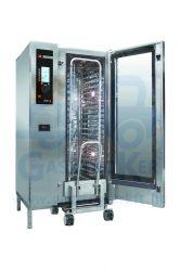 Fagor AE 202 elektromos üzemű kombinált sütő-pároló, regálkocsival