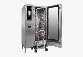 Fagor AG 201 gázüzemű kombinált sütő-pároló, kapacitás: 20 x GN 1/1, REGÁLKOCSIVAL