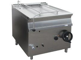 GBS85.98 INOX gázüzemű buktatható serpenyő, 80 literes, rm. serpenyő, MAGYAR TERMÉK!