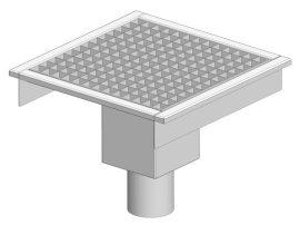 PLA 460 rozsdamentes padlóösszefolyó alsó kifolyóval