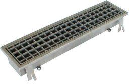 PLA 460 x fm rozsdamentes padlóösszefolyó alsó kifolyóval