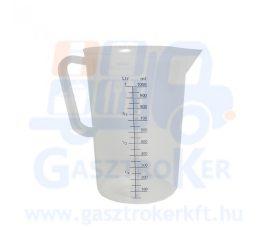 80005620 műanyag mércés kancsó, űrtartalom: 5 liter