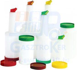 80072774 műanyag ital és szirup adagoló, űrtartalom: 1 liter, sárga