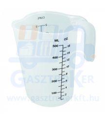 67136 műanyag mércés kancsó, űrtartalom: 0,5 liter