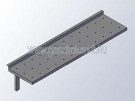 Falipolc perforált polclappal, fix konzollal, 400-as széria