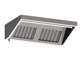 FF 10200 fali elszívóernyő, 2000x1000 mm