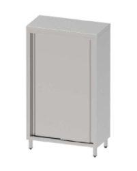 TSZ 50 100 Rozsdamentes tároló szekrény, tolóajtóval, méret: 1000x500x2000